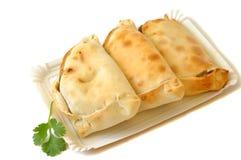 Köstliche chilenische empanadas Stockfoto