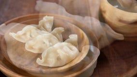Köstliche chinesische Mahlzeit-Mehlklöße stock video