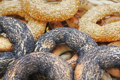 Köstliche frische Bagel Stockfotografie