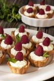 Köstliche frische Beerenminikuchen Stockfoto