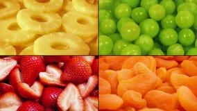 Köstliche Frucht-drehende Montage stock video