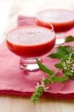 Köstliche gazpacho Suppe Stockfoto