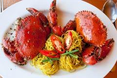 Köstliche gebackene Krabben Lizenzfreie Stockfotos