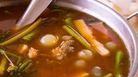 Köstliche heiße und säuern, Rogen- und Gemüseragout Stockfotografie