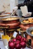 Köstliche indische Küche im indischen Basar Lizenzfreie Stockbilder