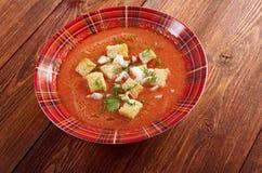 Köstliche kalte Gazpacho-Suppe Lizenzfreie Stockfotografie