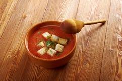 Köstliche kalte Gazpacho-Suppe Lizenzfreie Stockfotos