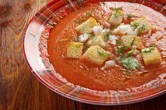 Köstliche kalte Gazpacho-Suppe Lizenzfreie Stockbilder
