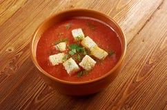 Köstliche kalte Gazpacho-Suppe Lizenzfreies Stockbild