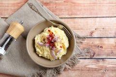 Köstliche Kartoffelpürees in einer Schüssel Stockfoto