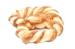 Köstliche Knoten-förmige Kekse. Stockbild