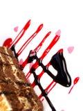 Köstliche Kuchen auf weißem Hintergrund Lizenzfreie Stockfotografie