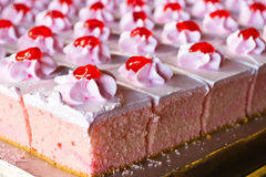 Köstliche Kuchen des Behälters Stockfoto