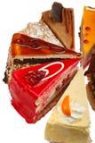 Köstliche Kuchen-Scheiben Lizenzfreies Stockfoto