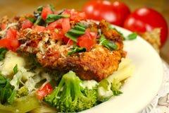 Köstliche Mahlzeit mit Lots Co Lizenzfreies Stockfoto