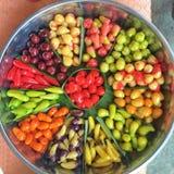 Köstliche nachgemachte Früchte stockfotografie