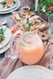 Köstliche Nahrung und Getränk Lizenzfreies Stockfoto
