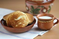 Köstliche Pfannkuchen Stockfotos