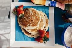 Köstliche Pfannkuchen Stockfoto