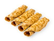 Köstliche Pfannkuchen gerollt in einem roll2 Stockfoto