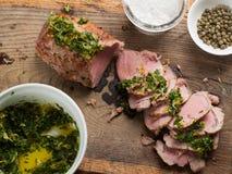 Köstliche Rindfleischleiste Stockfoto
