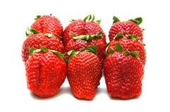 Köstliche rote Erdbeeren Stockbild