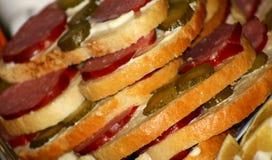Köstliche Sandwiche stockbilder