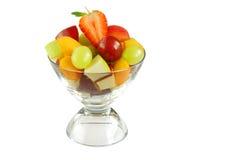 Köstliche Schüssel der frischen Frucht Lizenzfreies Stockfoto
