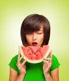 Köstliche Scheibe der Wassermelone Lizenzfreie Stockfotografie