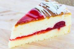 Köstliche Scheibe des Kuchens Lizenzfreie Stockbilder