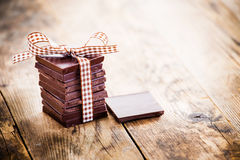 Köstliche Schokoladengeschenke, handgemacht Stockfotografie