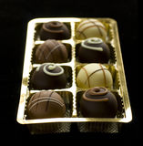 Köstliche Schokoladenpralinen Stockbild