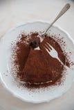 Köstliche Schokoladentörtchentorten lizenzfreies stockbild