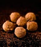 Köstliche Schokoladentrüffeln Lizenzfreies Stockbild