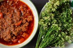 Köstliche siamesische Nahrung lizenzfreies stockfoto