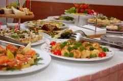 Köstliche Teller Stockfotos