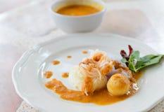 Köstliche thailändische food.KaNom jeen Nudeln Stockfoto