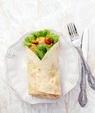 Köstliche Tortilla Stockfoto