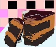 Köstliche und leckere Schokolade gebackener Kuchen stock abbildung