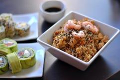 Farbige und köstliche Sushi Lizenzfreie Stockfotos