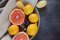 Köstliche Zitrusfrucht Stockfotografie