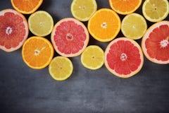 Köstliche Zitrusfrucht Stockfotos