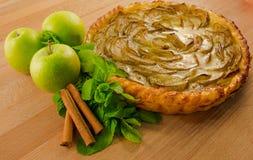 Köstlicher Apfelkuchen Stockbild