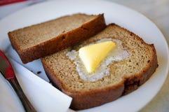 Köstlicher Bananenkuchen Stockfotos