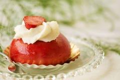 Köstlicher Erdbeerekuchen stockfoto