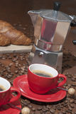 Köstlicher Espresso zum Frühstück Lizenzfreies Stockfoto