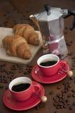 Köstlicher Espresso zum Frühstück Lizenzfreies Stockbild