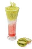 Köstlicher Frucht Smoothie auf weißem Hintergrund Stockfotografie