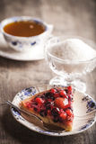 Köstlicher Fruchttörtchennachtisch Stockfotografie