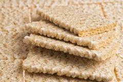 Köstlicher gefalteter Fan der knusperigen Brote Stockfotografie